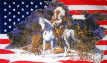 USA INDIAN CHIEF - 5 X 3 FLAG